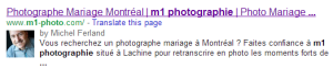 capture d'écran rich snippets